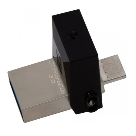 PENDRIVE KINGSTON DATATRAVELER MICRODUO - 32GB - CONECTORES USB-A Y MICROUSB - COMPATIBLE OTG - USB 3.0 | Pendrives