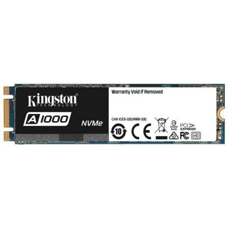 DISCO SOLIDO KINGSTON A1000 240GB - NVME PCIE GEN 3.0- M.2 2280 - LECTURA 1500MB/S - ESCRITURA 800MB/S