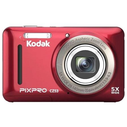 "CAMARA DIGITAL KODAK PIXPRO CZ53 ROJA - 16MPX - LCD 2.7""/6.82CM - ZOOM 5X OPT - ANGULAR 28MM - VIDEO HD 720P - USB 2.0 - ESTABIL"