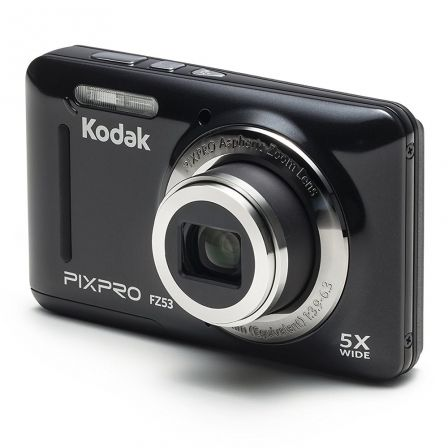 "CAMARA DIGITAL KODAK PIXPRO FZ53 NEGRA - 16MPX - LCD 2.7""/6.82CM - ZOOM 5X OPT - ANGULAR 28MM - VIDEO HD 720P - USB 2.0 - ESTABI"