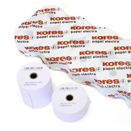 PACK 10 ROLLOS PAPEL ELECTRA KORES 66606500 - 57*65*12 - 36.5M. - O12MM - PARA IMPRESION EN OFFSET