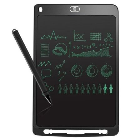 "MINI PIZARRA DIGITAL LEOTEC SKETCHBOARD TEN BLACK - 10""/25.4CM - PANTALLA LCD - LAPIZ OPTICO INCLUIDO - BATERIA - IMAN TRASERO - 