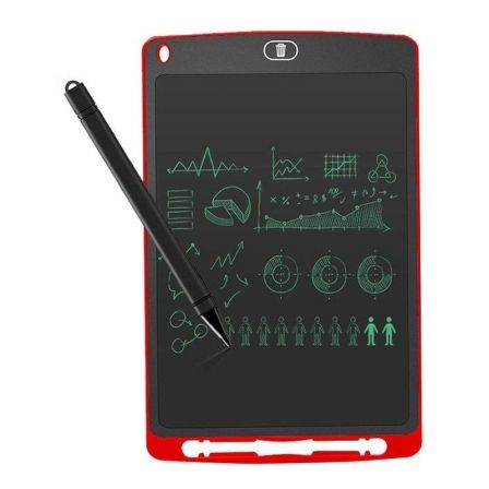 "MINI PIZARRA DIGITAL LEOTEC SKETCHBOARD EIGHT RED - 8.5""/21.59CM - PANTALLA LCD - LAPIZ OPTICO INCLUIDO - BATERIA - IMAN TRASERO 