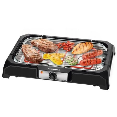 BARBACOA ELECTRICA MONDIAL TC-05 BBQ WEEKEND I - 2000W - TERMOSTATO ALTA PRECISION - PARRILLA ALTURA REGULABLE - FACIL LIMPIEZA |