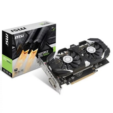 TARJETA GRAFICA MSI GEFORCE GTX 1050TI 4GT OC - 1341/1455MHZ - 4GB GDDR5 - DL-DVI-D / HDMI / DISPLAYPORT