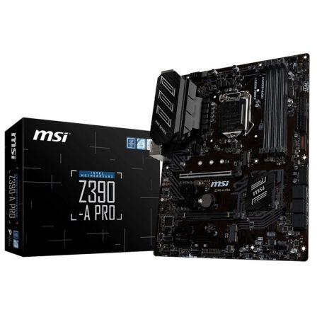 PLACA BASE MSI Z390-A PRO - PARA INTEL CORE 9TH/8TH GEN - SOCKET LGA 1151 - CHIPSET Z390 - 4*DIMM DDR4 - VGA/DVI-D/DISPLAYPORT -