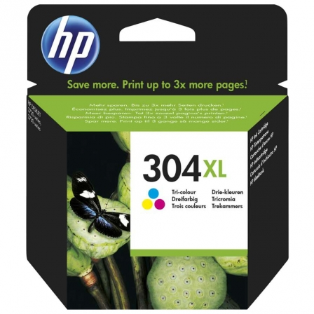 CARTUCHO COLOR HP N304XL - 300 PAGINAS - PARA DESKJET 3720/3730/3732/2630 | Consumibles hp