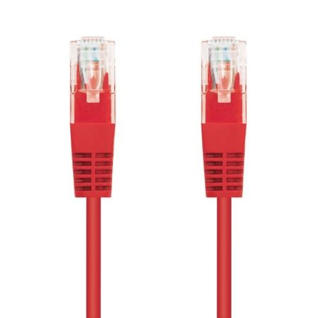 LATIGUILLO DE RED NANOCABLE 10.20.0101-R - RJ45 - UTP - CAT5E - 1M - ROJO