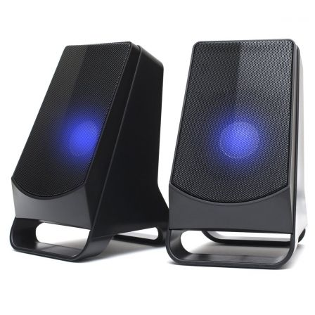 ALTAVOCES GAMING 2.0 NGS GSX-205 - 10W - ILUMINACION LED - TOMA AURICULARES - AUX IN - CONEXION USB | Gaming - altavoces