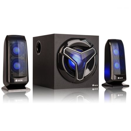 ALTAVOCES GAMING 2.1 NGS GSX-210 - 80W - BLUETOOTH - USB/SD/AUX IN - FM - ILUMINACION LED | Gaming - altavoces