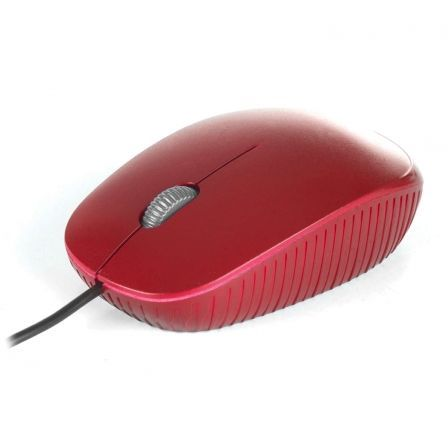 RATON CON CABLE NGS RED FLAME - OPTICO - 1000DPI - SCROLL + 2 BOTONES - LINEAS ERGONOMICAS - USB - COLOR ROJO