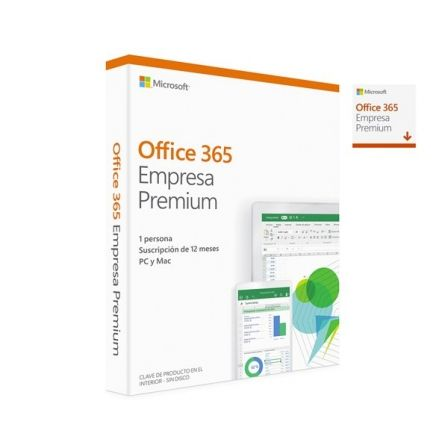 MICROSOFT OFFICE 365 EMPRESA PREMIUM - WORD - EXCEL - POWERPOINT - ONENOTE - OUTLOOK - PUBLISHER - ACCESS - 1 LICENCIA/1 ANO - M