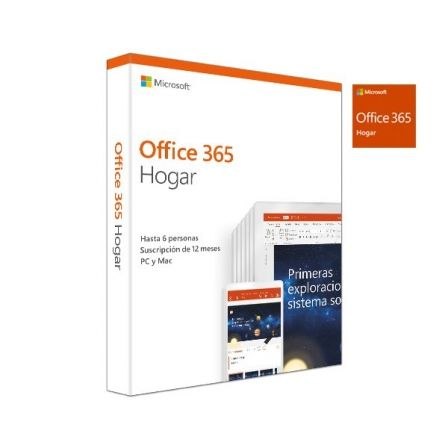 MICROSOFT OFFICE 365 HOGAR - WORD - EXCEL - POWERPOINT - ONENOTE - OUTLOOK - PUBLISHER - ACCESS - 6 USUARIOS/1 ANO - MULTIDISPOS