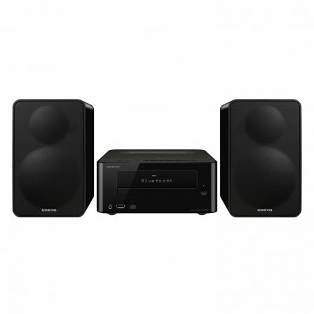 MINICADENA HIFI ONKYO CS-265-B NEGRA - 40W - CD - FM - USB - AUX-IN - BLUETOOTH - NFC - SUPER BASS - MANDO A DISTANCIA |