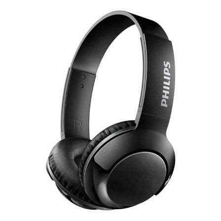 AURICULARES BLUETOOTH PHILIPS BASS+ NEGROS - DRIVERS 32MM - BT 4.1 - 103DB - PLEGABLES -  MICROFONO INTEGRADO - CABLE USB - AISL | Auriculares inalambricos
