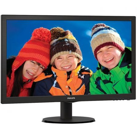 "MONITOR LED PHILIPS V-LINE 243V5LHSB - 23.6""/ 59.9CM FULLHD - 1MS - 1000:1 - 250CD/M2 - VGA - DVI-D - HDMI - INCLINACION 5/20 - 