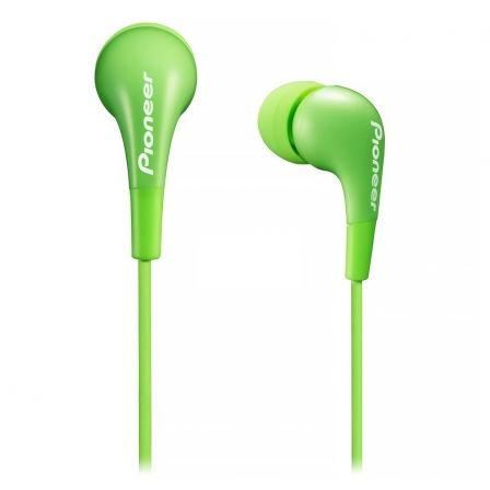 AURICULARES INTRAUDITIVOS PIONEER SE-CL502-G VERDES - DRIVERS 9MM - 20-20000HZ - 100DB - JACK 3.5MM - CABLE 1.2M | Auriculares de boton