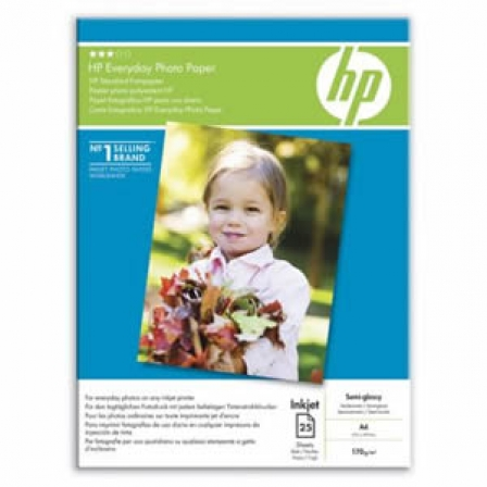 PAPEL HP FOTOGRAFICO SATINADO EVERYDAY PHOTOPAPER - 25 HOJAS A4 - 200G/M2