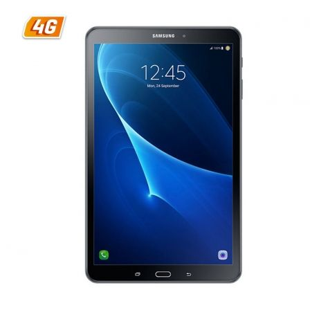 "TABLET SAMSUNG GALAXY TAB A (2016) BLACK - OC 1.6GHZ - 32GB - 2GB RAM - 10.1""/25.65CM 1920X1200 - ANDROID 6.0 - CAM 8/2MP - 4G - 