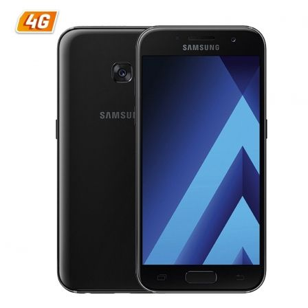 "SMARTPHONE MOVIL SAMSUNG GALAXY A3 (2017) BLACK - 4.7""/12CM - CAM 13/8MP - OC 1.6GHZ - 16GB - 2GB RAM - ANDROID - 4G - MICROSD - 