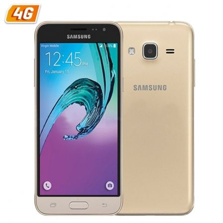 "SMARTPHONE MOVIL SAMSUNG GALAXY J3 ORO - 5""/12.7CM - CAM 5/8MPX - QC 1.5GHZ - 8GB - 1.5GB RAM - ANDROID 5.1 - 4G - DUAL SIM - BT 