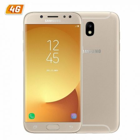 "SMARTPHONE MOVIL SAMSUNG GALAXY J5 (2017) ORO - 5.2""/13.2CM HD - DUAL CAM 13/13MP - OC 1.6GHZ - 16GB - 2GB - 4G - ANDROID - BT - 