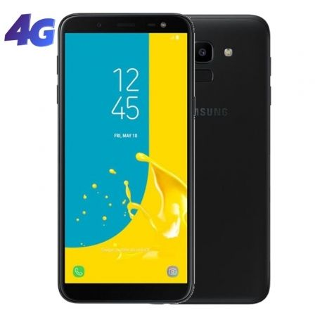 "SMARTPHONE MOVIL SAMSUNG GALAXY J6 BLACK - 5.6""/14.25CM HD+ - CAM 13/8MP - OC 1.6GHZ - 32GB - 3GB RAM - 4G - ANDROID - BAT 3000M"