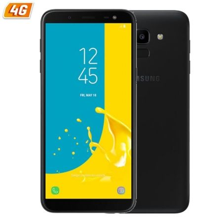 "SMARTPHONE MOVIL SAMSUNG GALAXY J6 BLACK - 5.6""/14.25CM HD+ - CAM 13/8MP - OC 1.6GHZ - 32GB - 3GB RAM - 4G - DUAL SIM - ANDROID"
