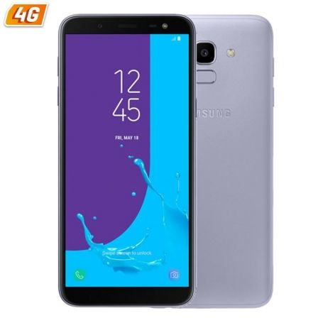 "SMARTPHONE MOVIL SAMSUNG GALAXY J6 LAVANDER - 5.6""/14.25CM HD+ - CAM 13/8MP - OC 1.6GHZ - 32GB - 3GB RAM - 4G - DUAL SIM - ANDRO 