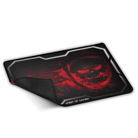 ALFOMBRILLA SPIRIT OF GAMER SMOKEY SKULL RED TAMANO XL - 435X323 - 3MM - BASE GOMA - COMPATIBILIDAD RATON OPTICO Y LASER | Gaming - alfombrillas