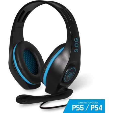 AURICULARES CON MICROFONO PARA PS4 SPIRIT OF GAMER PRO-SH5 - DRIVERS 40MM - CONECTOR JACK 3.5MM - CABLE 2.1M