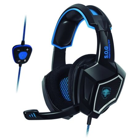 AURICULARES CON MICROFONO SPIRIT OF GAMER XPERT-H500 BLACK - DRIVERS 40MM - SONIDO 7.1 -  CONECTOR USB - CABLE 2.1M |