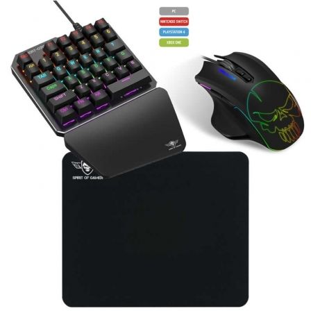 COMBO TECLADO Y RATON GAMING SPIRIT OF GAMER XPERT-G700 PARA CONSOLAS Y PC - 35 TECLAS SWITCHES MECANICOS - RATON XPERT-G700 320 |