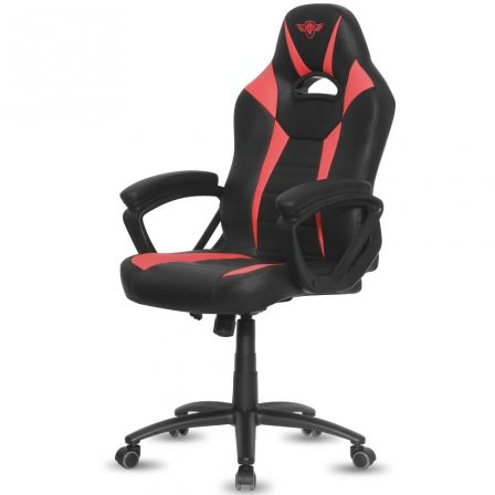 SILLA SPIRIT OF GAMER FIGHTER RED - INCLINACION / ALTURA REGULABLES - BRAZOS XL FIJOS - 5 RUEDAS 360 - HASTA 120KG