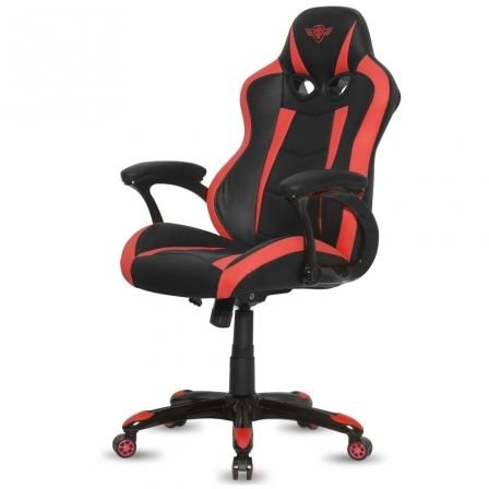 SILLA SPIRIT OF GAMER RACING RED - INCLINACION / ALTURA REGULABLES - BRAZOS XL FIJOS - 5 RUEDAS 360 - HASTA 120KG | Sillas