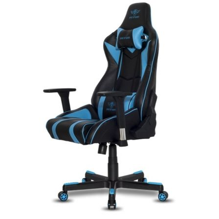 SILLA SPIRIT OF GAMER VIPER BLUE - INCLINACION / ALTURA REGULABLES - BRAZOS AJUSTABLES 3D - 5 RUEDAS 360 - HASTA 150KG | Sillas y mesas gaming