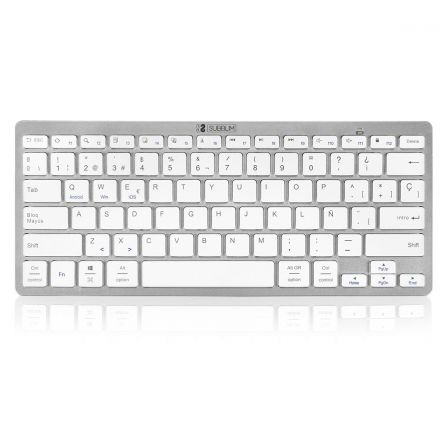 TECLADO BLUETOOTH SUBBLIM 1DYC001 DYNAMIC COMPACT SILVER - BT 3.0 - 78 TECLAS - COMPATIBLE CON APPLE/ANDROID/WINDOWS | Teclados