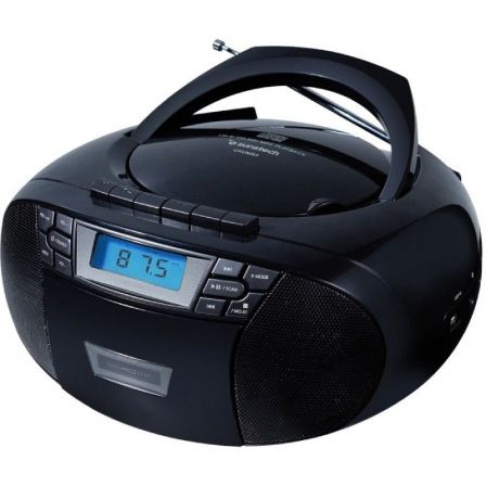 RADIO CD SUNSTECH CXUM53BK BLACK - 2W - CD/R/RW/MP3/WMA - FM - USB/AUX-IN - PANTALLA LCD | Radio cd / radio de bolsillo