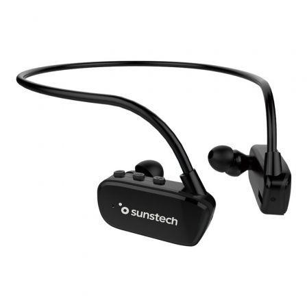 REPRODUCTOR MP3 SUNSTECH ARGOSHYBRID BLACK 8GB - BLUETOOTH 4.2 - WATERPROOF SUMERGIBLE HASTA 3 METROS - BAT 200MAH - DISENO ERGO | Reproductores de mp3