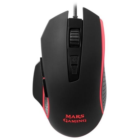 RATON MARS GAMING MM018 - 4800DPI - ILUMINACION RGB BREATHING - 8 BOTONES PROGRAMABLES - SOFTWARE DE CONTROL - CABLE USB 1.45M | Gaming - ratones