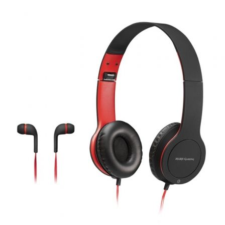 PACK COMBO 2 EN 1 MARS GAMING MHCX - AURICULARES CON MICROFONO IN-EAR JACK 3.5MM + AURICULARES CON MICROFONO OVER-EAR JACK 3.5MM
