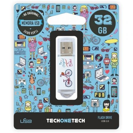 PENDRIVE TECH ONE TECH BE BIKE 32GB USB 2.0 | Pendrive diseño especial