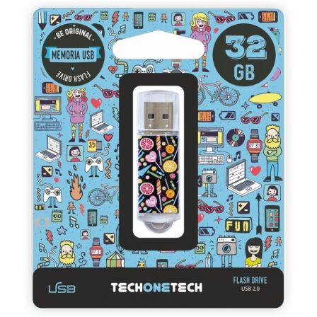 PENDRIVE TECH ONE TECH CANDY POP 32GB USB 2.0 | Pendrive diseño especial