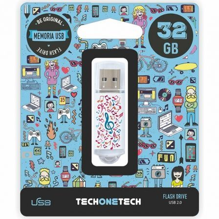 PENDRIVE TECH ONE TECH MUSIC DREAM 32GB USB 2.0 | Pendrive diseño especial