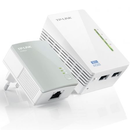 PLC/POWERLINE TP-LINK TL-WPA4220KIT KIT EXTENSOR WIFI AV600 A 300MBPS 2P ETHERNET 10/100  BLANCO | Dispositivos powerline (plc)