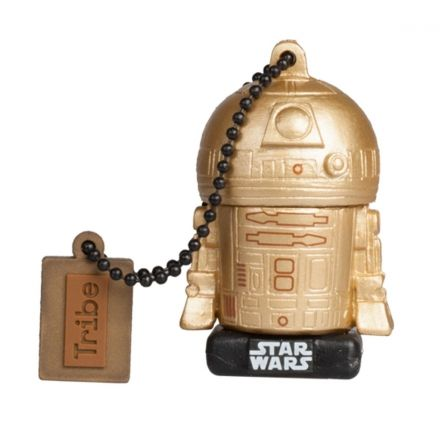 PENDRIVE TRIBE STAR WARS R2D2 GOLD TLJ 16GB USB 2.0 | Pendrive personajes