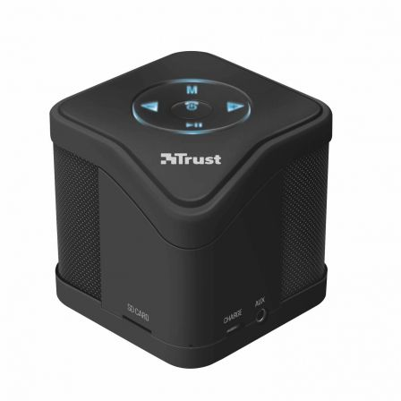 ALTAVOZ TRUST URBAN MUZO WIRELESS BLUETOOTH BLACK - MP3 - MICRO SD - FUNC. MANOS LIBRES - INCLUYE CABLE CARGA MICRO-USB Y AUX. 3 | Altavoces bluetooth (bt)