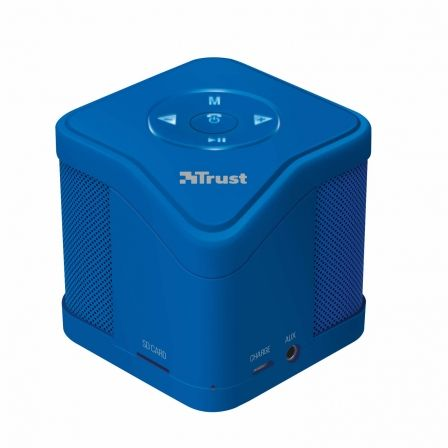 ALTAVOZ TRUST URBAN MUZO BLUETOOTH BLUE - MP3 - MICRO SD - FUNC. MANOS LIBRES - INCLUYE CABLE CARGA MICRO-USB Y AUX. 3.5MM |