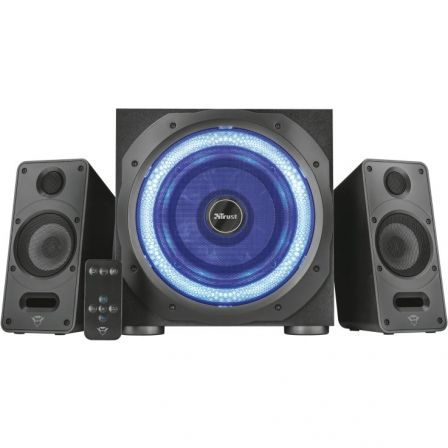 ALTAVOCES 2.1 TRUST GAMING GXT 688 TORRO - 120W (60W RMS) - SUBWOOFER MADERA CON ILUMINACION LED - MANDO INALAMBRICO - ALIMENTAC | Gaming - altavoces
