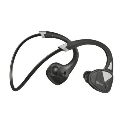 AURICULARES DEPORTIVOS BLUETOOTH TRUST URBAN VELO NECKBAND-STYLE - DRIVERS 10MM - BT 4.2 - 32OHM - BAT.RECARGABLE - ALCANCE 10M | Auriculares